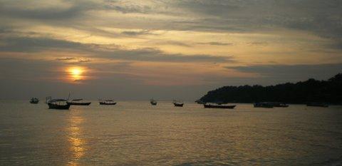 Standard sunset in Sihanoukville